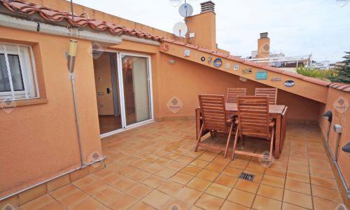 """""""ALQ-P-1738 Palafolls Magnífico Dúplex 3 dormitorios con terraza y amueblado en alquiler"""""""